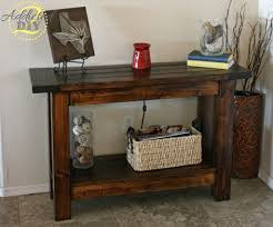 Wood Entry Table Pottery Barn Inspired Console Table Addicted 2 Diy