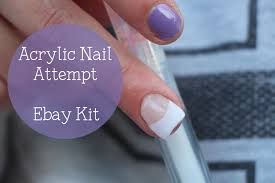 acrylic nail attempt u0026 tutorial with ebay kit nina holly youtube