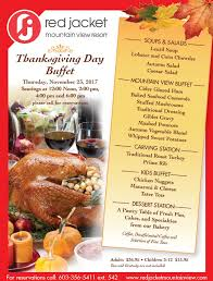 your thanksgiving dinner at jacket mountain view resort