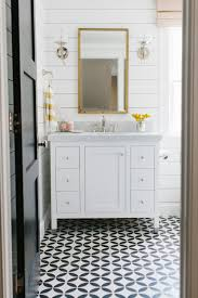 patterned tile bathroom 24 ways to use patterned tile in neutral spaces table and hearth