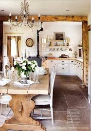 bedroom shabby sheek dining room design with rustic dining table
