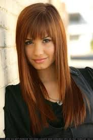 how can i get my hair ut like tina feys demi lovato with red hair bangs hair coloring and hair style