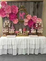 baby shower table ideas it s a girl pink and silver baby shower party ideas