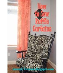 Turquoise Ruffle Curtains Window Treatments U2013 Craft Gossip