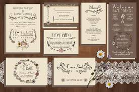 wedding invitation suites wildflower wedding invitation suite invitation templates
