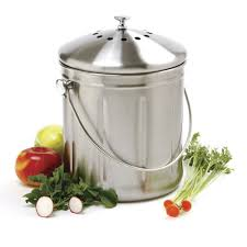 compost canister kitchen norpro 1 5 gallon stainless steel compost keeper