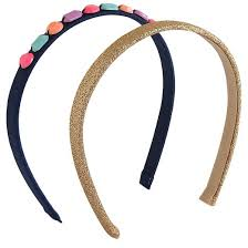 jeweled headbands 2 pack opaque jeweled headbands cat gold blue