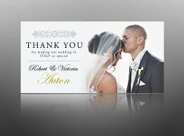 wedding thank you cards wedding card design groom photo white rectangle paper