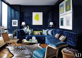 deep blue velvet sofa get the look the bold blue velvet sofa franki durbin