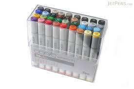 copic sketch marker 36 basic color set jetpens com