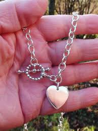 silver chain necklace tiffany images Hand crafted sterling silver tiffany style heart toggle chain jpg