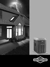 briggs u0026 stratton portable generator 040220a user guide