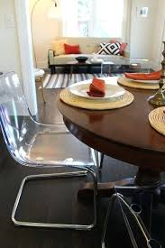 Modern Dining Room Chair Clear Dining Room Chairs Clear Finished Plastic Dining Chairs Set