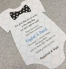 bow tie baby shower invitations 20 baby boy with polka dot bow tie onesie baby shower invitation