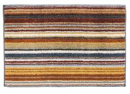 missoni home jazel 160 brown striped bath rug