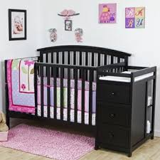 Baby Cribs 4 In 1 With Changing Table Black Crib U0026 Changing Table Combo You U0027ll Love Wayfair