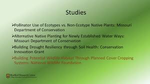 missouri native plant nursery interactions between cover crops and wildlife ppt download