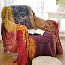 bohemian luxe interiors pearls to a picnic bohemian chenille blanket for couch sofa decorative slipcover throws