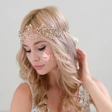 hair crystals exquisite rhinestones ivory pearls crystals halo and sash bridal