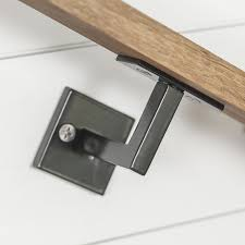 2 Step Handrail Minimal Handrail Bracket 1 2 Solid Steel Square Bar