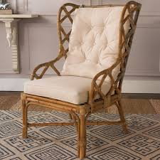 Beige Wingback Chair Rattan Wingback Chair Shades Of Light