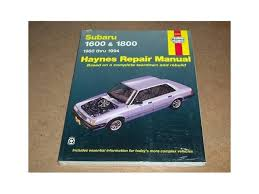 1980 1994 subaru brat 1600 haynes repair service manual cea services