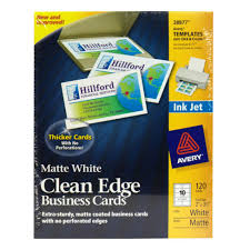avery 25009911 business cards matte white clean edge