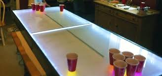 fold up beer pong table light up your next party with this diy led beer pong table that