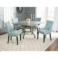 safavieh ludlow ash gray dining table amh6645b the home depot