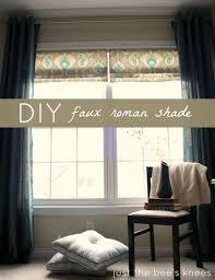 how to create a faux roman shade faux roman shades window and
