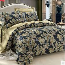 luxury victorian black and yellow patterned duvet covers full