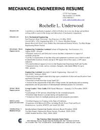 career objective for mechanical engineer resume resume for your
