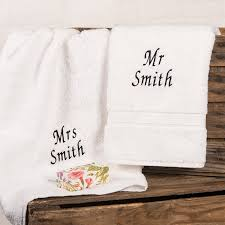 wedding gift hers uk personalised his and hers towels gettingpersonal co uk
