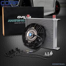 oil cooler fan kit universal 30row engine transmission 10an oil cooler 7 electric