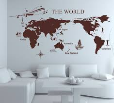 World Map Wall Sticker by Muurschildering Wereld Abstracte Muurschilderingen Pinterest