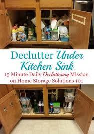 Kitchen Sink Cabinet How To Declutter Under Your Kitchen Sink Cabinet