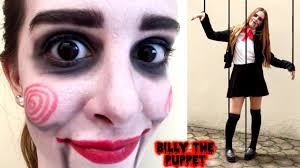 saw billy the puppet halloween makeup and costume