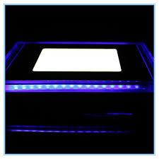 warm blue color 10w indoor decoration modern led panel light 220v 110v square