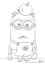 minion tom coloring free printable coloring pages