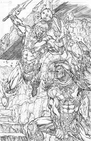 kevin sharpe art he man vs skeletor