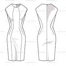 women u0027s sheath dress fashion flat template u2013 illustrator stuff