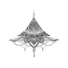 sternum artistry mandala temporary tattoo momentary ink