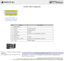 citroen obd 2 diagnostic pinout diagram pinoutguide com