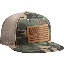 American Flag Camo Hat Leupold 511 Leather Flag Flat Bill Trucker Hat 172593 B U0026h Photo