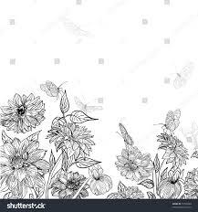 garden sketch butterflies stock vector 73790200 shutterstock