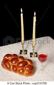 shabbat candles shabbat candles lighted a table set for shabbat with stock