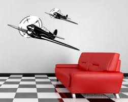 Aviation Home Decor Airplane Wall Decals Etsy