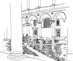 coloring italy courtyard 5