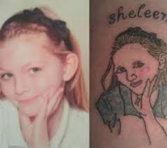 Bad Tattoo Meme - pretty spot on portrait ugliest tattoos funny tattoos bad