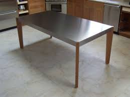 stainless steel kitchen table top awesome stainless steel kitchen work house design ideas pict of ikea